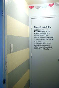 Fun laundry room idea