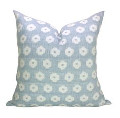 This listing is for one Timur Weave Sky pillow cover, featuring the blue background. This is a reversible fabric. DESCRIPTION  Designer: F.