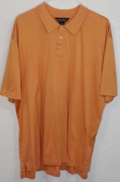 Brooks Brothers Performance Knit Mens Orange Cotton Short Sleeve Polo Shirt XXL #BrooksBrothers #PoloRugby
