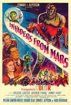 Invaders from Mars (1953)- They are not only big, but green.