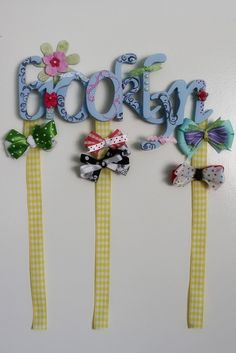 Girls Boutique Personalized Hair Bow Holder- 8 LETTERS
