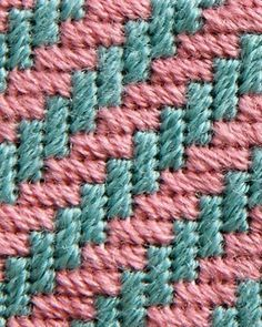 Discover thousands of images about Stitch 35 - Diagonal Hedge Row Plastic Canvas Coasters, Plastic Canvas Stitches, Plastic Canvas Tissue Boxes, Plastic Canvas Crafts, Plastic Canvas Patterns, Bargello Patterns, Bargello Needlepoint, Needlepoint Stitches, Needlepoint Kits