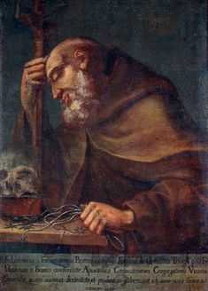 ANONIMO, padre Ludovico da Fossombrone (1656), 2° Ministro Generale dei Cappuccini, che mandò  a fondare il Convento di Larino