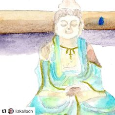 #Repost @lizkalloch  Tools & Talismans #41 with artist Alexandra Eldridge. These objects are with me everyday in the studio.  I have an altar that I touch in with each morning. Quan Yin Goddess of Compassion speaks to me first of all . . . and then my precious brushes used over and over transporting color to change nothing to something. Alexandra Eldridge  See the full painting and read more words from Alexandra on my website.
