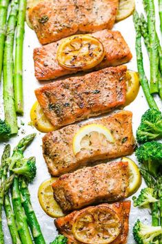 How to cook salmon perfectly in the oven, stove & grill. Includes tips & tricks plus best salmon recipes for busy weeknights. Baked Teriyaki Salmon, Oven Baked Salmon, Baked Salmon Recipes, Fish Recipes, Vegetable Recipes, Seafood Recipes, Cooking Recipes, Recipes For Salmon Filets, Lemon Recipes