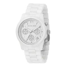 Michael Kors Quartz, White Dial with White Ceramic Bracelet - Womens Watch MK5161  $318.94
