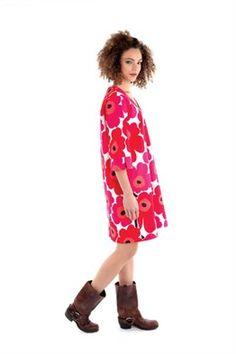 Marimekko free pattern Sewing Patterns Free, Clothing Patterns, Dress Patterns, Free Pattern, Free Sewing, Sewing Ideas, Sewing Clothes, Diy Clothes, Clothes For Women