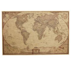 Great art xxl poster world map photo wallpaper vintage retro motif afrebay sells home decor items retro nostalgia kraft paper world map antique poster gumiabroncs Image collections
