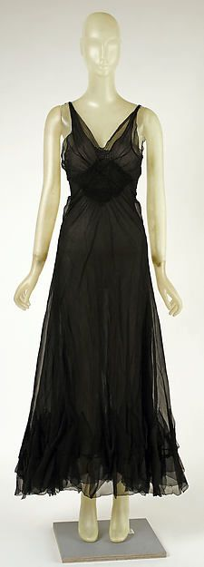 Evening dress (image 1)   Madeleine Vionnet   French   1937   silk   Metropolitan Museum of Art   Accession Number: 1979.344.5a, b