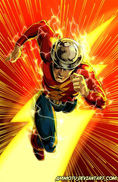 Golden Age Flash - Jay Garrick by Ammotu The Flash Comic, Flash Comics, Dc Comics Heroes, Arte Dc Comics, The Flash Art, Dc Speedsters, Flash Tv Series, Flash Wallpaper, Justice Society Of America