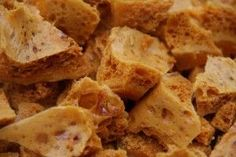 Honeycomb Treats recipe by Naseema Khan (zulfis) posted on 30 Sep 2017 . Recipe has a rating of by 1 members and the recipe belongs in the Desserts, Sweet Meats recipes category Sweet Recipes, Snack Recipes, Dessert Recipes, Cooking Recipes, Snacks, Dessert Bars, Yummy Recipes, How To Make Honeycomb, Honeycomb Recipe