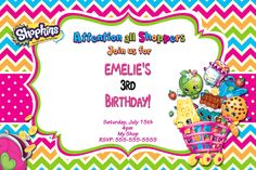 Shopkins Birthday Invitations $8.99 available at www.partyexpressinvitations.com