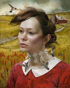 """Andrea Kowch - """"Her Thoughts They Hum"""""""