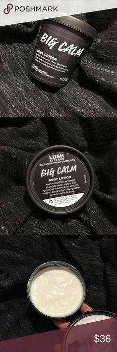 Lush Kitchen Big Calm Body Lotion New Lush Kitchen Exclusive Big Calm Body Lotion. Size is 225g. Lush Makeup