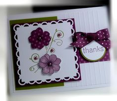 Me, My Stamps and I: Scallop Trim Border Card. I need to link this to the pin about how large each punch is.