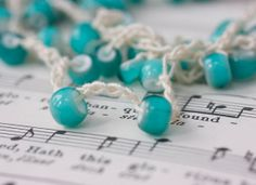 Turquoise Blue Summer Boho Necklace Stackable Beach by beadedwire, $34.00