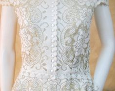 Exclusive ivory lace wedding dress bridal dress made from
