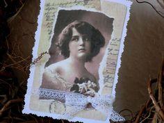 Karte-French-Dekokarte von White Roses auf DaWanda.com