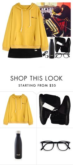 """""""Another photo shoot Dok2 (Illionaire)"""" by evil-maknae ❤ liked on Polyvore featuring adidas Originals and S'well"""