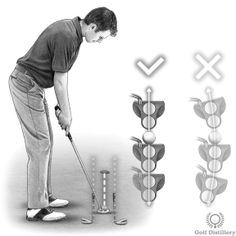 Golf Putting Drill - Improve your Putting Stroke Oregon Ducks Football, Alabama Football, American Football, College Football, Volleyball Hairstyles, Ohio State Buckeyes, Oklahoma Sooners, Golf Tips Driving, Volleyball Tips