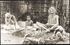 1920s India - Fakir on his Bed of Nails