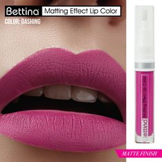 """¿Cuántas estamos enamoradas de los tonos rosados? De la línea """"Matting Effect Lip Color"""", el hermoso color """"Dashing"""". Tiene terminación #mate, no reseca tus labios y pigmentación excelente. #mattelips"""