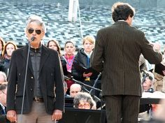 #AndreaBocelli in prova con il maestro #MarcelloRota #expo365 #expo2015