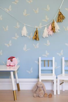Introducing Porter's Offspring Collection, a cheerful wallpaper collection created to inspire and engage imaginations. Ideal for bedrooms and play areas these delightful designs have the scope and sophistication to be embraced by the entire family. Each design is available in a joyful palette of colours. Take a journey amongst the clouds. Accessorise with fairy wings and super hero capes as this design will transport your space to dreamy heights. Delicate butterflies will dance, twirl and…