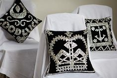 Pearly King cushions