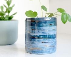 A unique collection of mud made loveliness by TheMintyMountain Potted Plants, House Plants, Glass Vase, Etsy Seller, Ceramics, Unique Jewelry, Handmade Gifts, Insight, Flowers