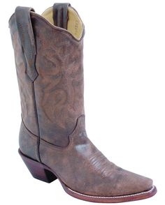 Tobacco Brown Distressed Boot
