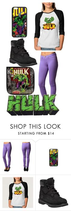 """""""Hulk"""" by pinappledancer1186 ❤ liked on Polyvore featuring Marvel and Timberland"""