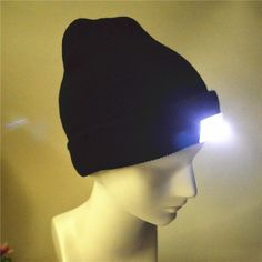 b4e92ffc081 5LED Headlamp Glow Mountaineer Fishing Hat Adult  FishingCaps Winter Beanies