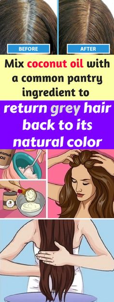 Mix coconut oil with a common pantry ingredient to return grey hair back to its natural color – healthycatcher
