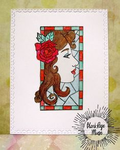 @blankpagemuse posted to Instagram: Love this Profile in stained glass, such a fun stamp! Link to the stamp below, thanks! Make Your Own Card, Faux Stained Glass, Blank Page, Instagram Blog, Medium Art, Mixed Media Art, Cardmaking, Muse, Eye Candy