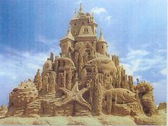 Who loved building sand castles as a child? Never built one quite like this.