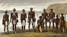 De Aucaners (djoeka genoemd)  leefden aan de Marowijne en de Tapanahony. De Saramacca bewoonden het gebied aan de bovenloop van de Surinamerivier.