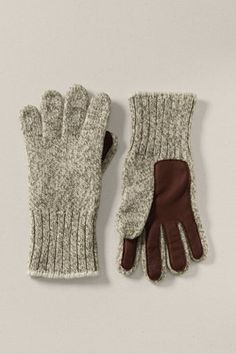 Ragg wool gloves with deerskin palm and fingers.