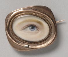 Philadelphia Museum of Art - Collections Object : Portrait of a Right Eye Made in England, c. Eye Jewelry, Enamel Jewelry, Jewelry Art, Vintage Jewelry, Lovers Eyes, Human Body Parts, Miniature Portraits, Mourning Jewelry, Philadelphia Museum Of Art