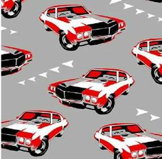 Henry Glass Fabric MASQUERADE PARTY Muscle Cars- yards