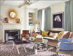 Robert Passal living room--very original and eclectic space,yet still balanced and inviting bravo!