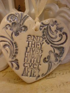 Happily Ever After Ceramic Wedding - Christmas Ornament - Favor on Etsy, $6.84 CAD