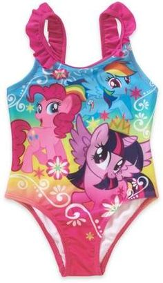 232fb4359aa My Little Pony Toddler Girl Ruffle Detail 1pc Swimsuit