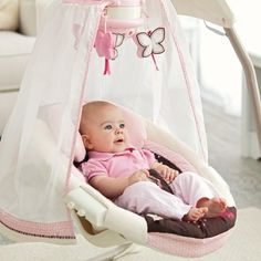 Fisher-Price Butterfly Cradle Baby Swing | Hayneedle