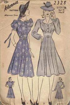 Advance 2328 - Vintage Sewing Patterns