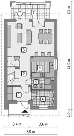 Projekt domu Murator M147 Bratnia dusza 106,1 m2 | extradom