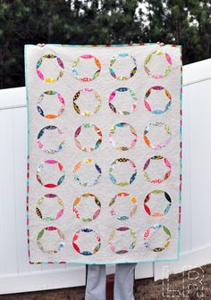 From the modern quilt guild. Love any quilt that uses white with touches of bright colours