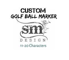 Custom Golf Ball Marker: 11-20 Characters / Magnetic Brushed Stainless – Sierra Metal Design