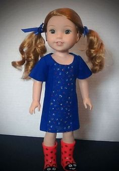 sewing patterns doll clothes for wellie wishers by oh sew kat!  Sunshine Dress…