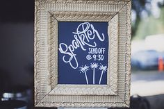 Sparkler Fun:) Sign by Whidbey Island Weddings. Photo from anna & jesse collection by a fist full of bolts